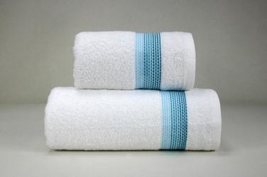 OMBRE BIAŁYAQUA ręcznik FROTEX - biało-aqua