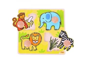Safari układanka z uchwytami