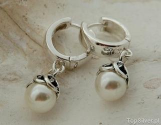 Amiga - srebrne kolczyki z perłą