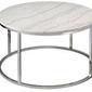Rge :: stolik kawowy accent marmur okrągły srebrno-biały śr. 85 cm