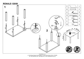 Nierozkładany lakierowany stół ronald 120