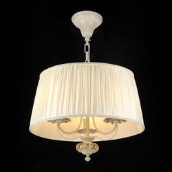 Lampa wisząca z dużym, plisowanym, kremowym kloszem olivia maytoni classic arm326-33-w