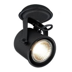 Kaspa - reflektor sufitowy pojedynczy - alter - czarny - czarny