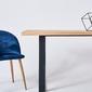 Nowoczesny dębowy stół donovan na metalowych nogach  180x90 cm