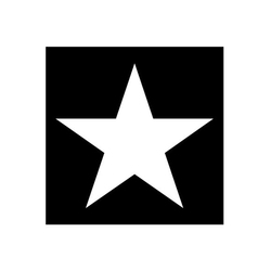 Serwetki papierowe czarne biała gwiazdka
