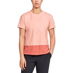 Koszulka damska under armour charged cotton ss - pomarańczowy