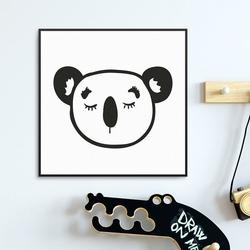Little koala - plakat dla dzieci , wymiary - 90cm x 90cm, kolor ramki - biały
