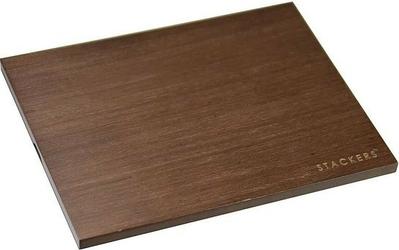 Pokrywka drewniana do pudełek na biżuterię classic Stackers ciemna