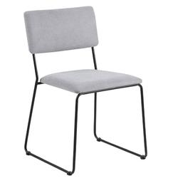 Krzesło nowoczesne lili jasnoszary