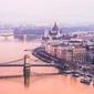 Budapeszt parlament - plakat premium wymiar do wyboru: 84,1x59,4 cm