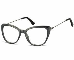 Okulary oprawki zerówki korekcyjne kocie oczy sunoptic ac8 czarne
