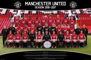 Manchester united drużyna zdjęcie 1617 - plakat