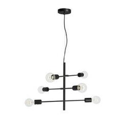 Lampa wisząca caspi czarna szer. 55 cm
