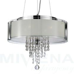 Lampa wisząca 4 chrom kryształ szkło