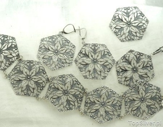 Andaluzja - srebrny zestaw biżuterii