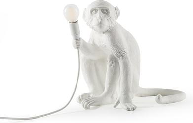 Lampa monkey zewnętrzna biała stołowa
