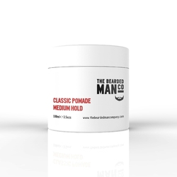 Bearded man co 01 classic pomade medium hold - klasyczna pomada do włosów średni chwytlekki połysk 100ml