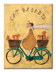 Cat baskets - obraz na płótnie
