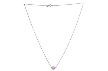Srebrny naszyjnik z kryształem swarovski
