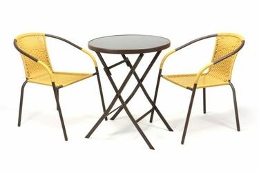 3-częsciowy zestaw mebli ogrodowych, stolik + 2 krzesła