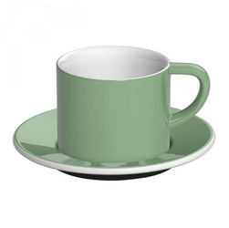 Filiżanka ze spodkiem zielona Bond Cappuccino Loveramics