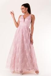 Evalola sukienka róż 60007-3