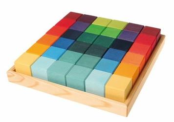 Kostki w pudełku 36-el 3+, tęczowe, Grimms