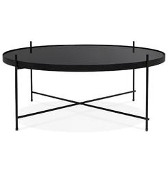 Okrągły stolik kawowy espejo big  czarny