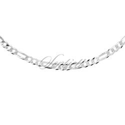 Łańcuszek diamentowany figaro płaskie pr. 925 ø 0100 rodowany - rodowanie  4,1 mm