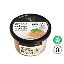 Organic shop peeling do ciała cane sugar  sea salt os66