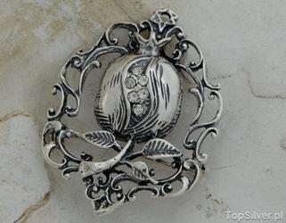 Iglesia - srebrna broszka z kryształkami swarovskiego