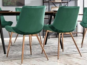 Krzesło do salonu amiro zielone welur