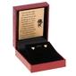 Złote kolczyki serca sztyft złoto 585 dedykacja złota kokardka - wliczony w cenę