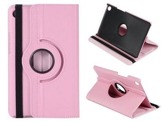 Etui obrotowe 360 huawei mediapad m5 8.4 różowe - różowy