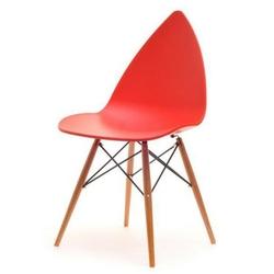 Krzesło rush czerwone skandynawskie