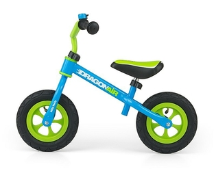Milly mally dragon air blue rowerek biegowy pompowane koła + dzwonek + prezent 3d