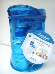 Mustela zestaw kieszonkowy 3 produkty + kosmetyczka