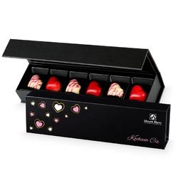 Czekoladki walentynkowe chocolate box long black kocham cię