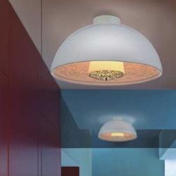 Plafon z kloszem z włókna szklanego elegante 40