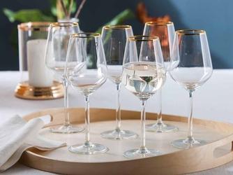 Kieliszki do wina białego altom design rubin gold 370 ml komplet 6 sztuk