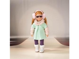 Zestaw ubranek dla lalki 15 cm stylizacja z miętową tuniką wonderfully warm