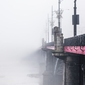 Warszawa most we mgle - plakat premium wymiar do wyboru: 61x91,5 cm