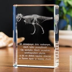 T-rex 3d • personalizowana statuetka 3d • grawer 3d