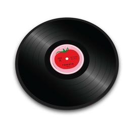 Deska lub podkładka tomato vinyl record joseph joseph