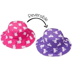 Dwustronny kapelusz flapjack - xs0-6m-cy - hipopotamsłoń