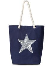 Torba shopper z motywem gwiazdy bonprix ciemnoniebiesko-srebrny kolor
