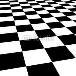 Obraz na płótnie canvas czteroczęściowy tetraptyk podłoga szachownicy