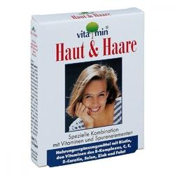 Haut + haare vitamin kapsułki z witaminami dla skóry i włosów