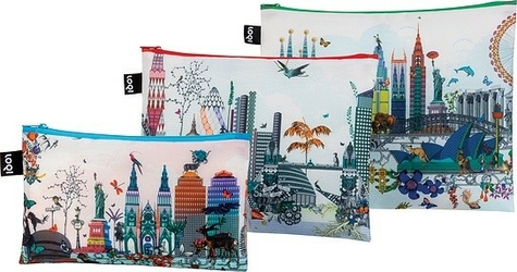 Saszetki zip pockets kristjana s williams interiors 3 szt. world skyline