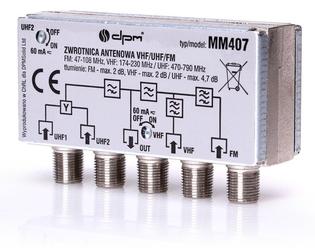 Zwrotnica antenowa dvb-t dab+ mux-8 - szybka dostawa lub możliwość odbioru w 39 miastach